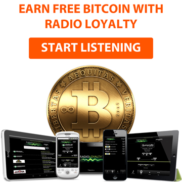 Earn free bitcoins with Radio Loyalty