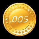 .005 BTC cashout