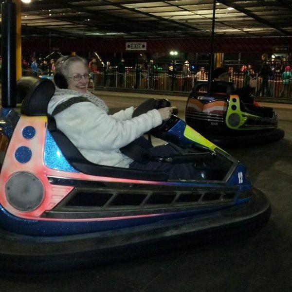 Kathie driving bumper car coin tasker testimonial